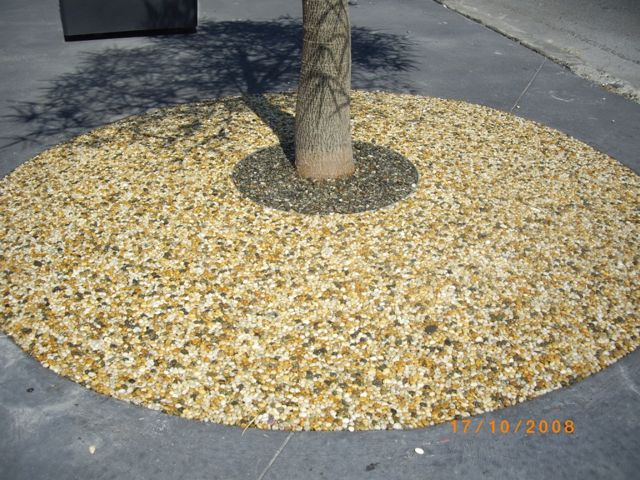 porous rock pavement
